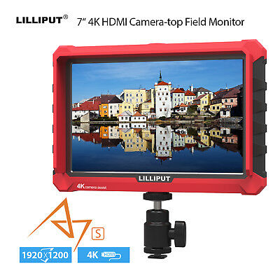 £107.49 • Buy Lilliput A7S 7  IPS 4K Camera Monitor Video Auxiliary 1920x1200 LCD + Sun Shade