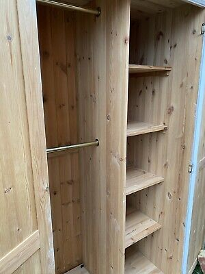 Painted Solid Pine Double Wardrobe • 70£