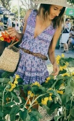 AU175 • Buy SPELL & THE GYPSY Kombi Romper In Lavender, Size Small  Playsuit Spring Summer