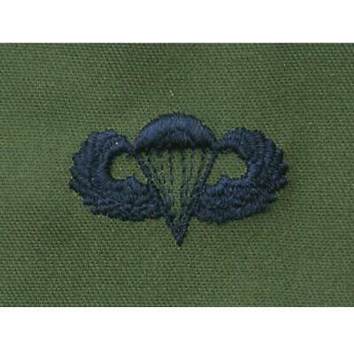Us Army Olive Black Subdued Parachute Wings Para Wings Airborne Forces Insignia • 2.50£