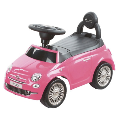 Ride On Car Pink Fiat 500 Push Along Walker Stroller With Horn & Storage • 44.99£