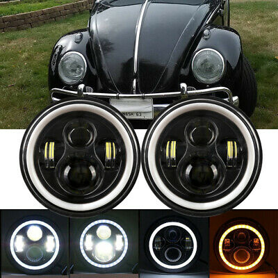 AU73.99 • Buy For VW Beetle Classic DOT 7 Inch LED  Headlights Upgrade Hi/Low Beam Round