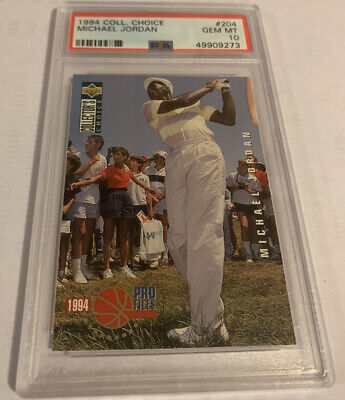 $300 • Buy PSA 10 GEM MINT 1994 Collector's Choice #204 Michael Jordan Golf 🔥🔥🔥