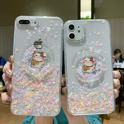 AU6.96 • Buy Bling Cartoon Cute Lucky Cat Girl Creative Hot Soft Case For Various Phone Cover