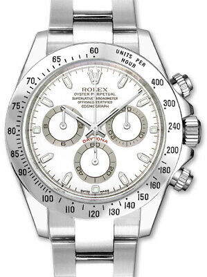 $ CDN28983.57 • Buy Rolex Daytona Chronograph Steel White Dial Mens Automatic Watch 116520