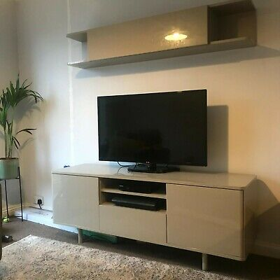 Ikea Beige Tv Stand Bench Wall Cabinet Unit  • 200£