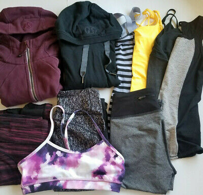 $ CDN263.20 • Buy LOT Sz 6 LULULEMON Scuba Hoodie Pullover Crop Pant Tank Top Bra Speed Tight