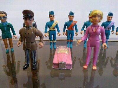 Thunderbirds Matchbox Set Of 10 Figures And FAB 1 Car 1992  • 39.50£