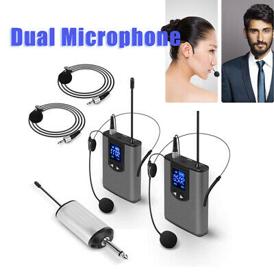 £34.49 • Buy Wireless System With Dual Headset/Lavalier Microphone 96DB For Karaoke Machines