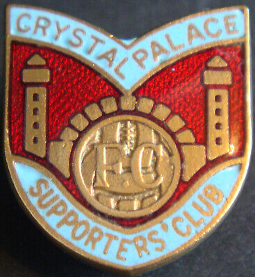 £12.50 • Buy CRYSTAL PALACE FC Vintage SUPPORTERS CLUB Badge Brooch Pin In Gilt 21mm X 23mm