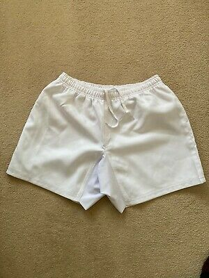 Mens White Rugby  Shorts - New-Large • 12.99£