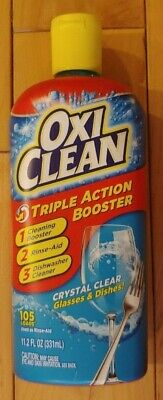 Oxi Clean Triple Action Booster Crystal Clear Dishwasher Rinse Drying Aid 11.2oz • 8.77£