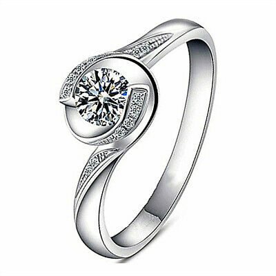 925 Sterling Silver Spinning Love Adjustable Ring Fashion Women's Jewelry Gift • 7.15£