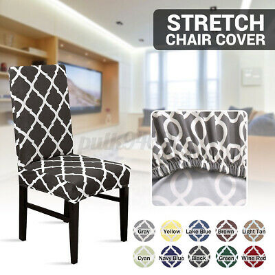 AU11.23 • Buy 2/6/8pcs Stretch Dining Chair Cover Removable Slipcover Home Banquet Furniture
