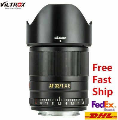 AU337.97 • Buy VILTROX 33mm F1.4 AF APS-C Prime Metal Lens For Sony NEX E-Mount A6000 A6300