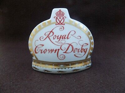 Royal Crown Derby Paperweight Namestand 10th Anniversary Collectors Guild  • 30£