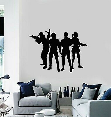 $21.99 • Buy Vinyl Wall Decal Weapons Army Squad Soldiers Military Game Zone Stickers (g4274)
