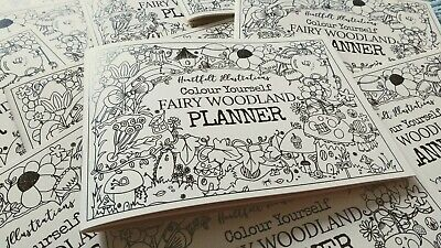 £4.50 • Buy Fairy Woodland Colouring Book A5 Planner To Colour Yourself