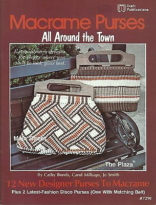 $8.05 • Buy Macrame Purses All Around The Town Cathy Bonds Vintage Pattern Book NEW 1978