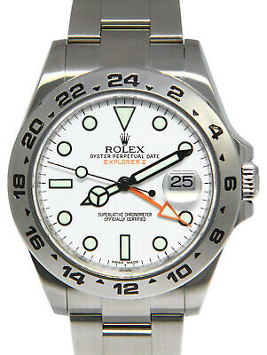 $ CDN12201.96 • Buy Rolex Explorer II Stainless Steel White Dial Mens 42mm Watch 216570