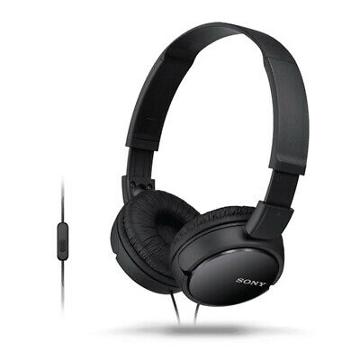AU45 • Buy Sony MDR-ZX110AP Wired Stereo On-Ear Headphones/Headset For Smartphones W/Mic BK