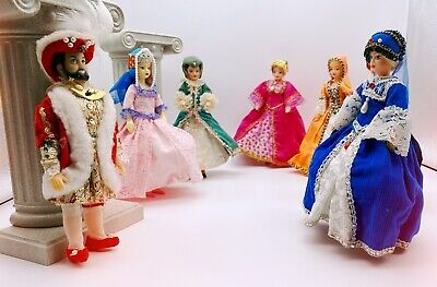 £185 • Buy Vintage Henry VIII And His Six Wives Collectable Rexard Dolls Boxed