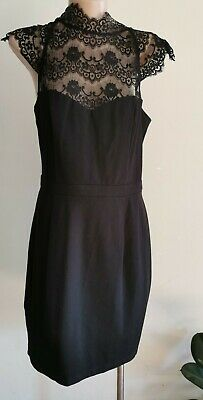 AU15.96 • Buy Forever New Black Dress With Lace. Size 10