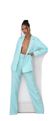 Misguided Mint Blazer Trouser Suit Co-ord • 15£