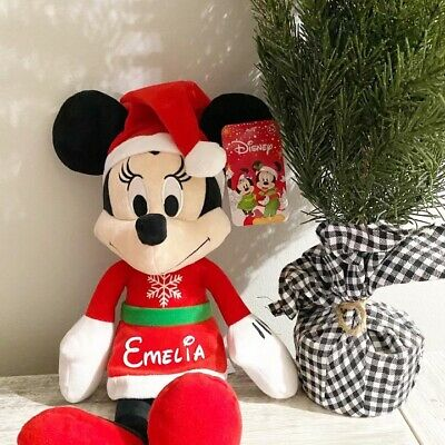 £14.62 • Buy Personalized Holiday Christmas Minnie Or Mickey Mouse Plush Disney Toy