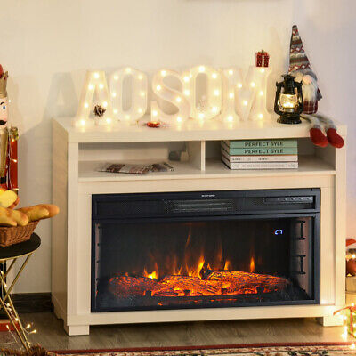 Electric Fire Fireplace Insert Wall Heater Adjustable Flame Living Room Stove UK • 199.14£