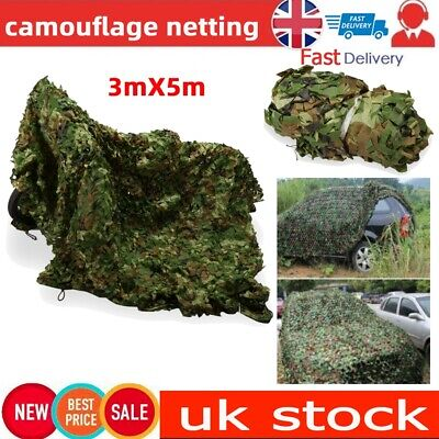 3Mx5M Camouflage Net Camo Hunting Shooting Hide Army Camping Netting Durable • 20.49£