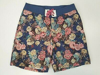 £15.99 • Buy P491 Mens Tom Joule 1982 Team Gb Blue Mix Floral Swimming Shorts Uk M W34