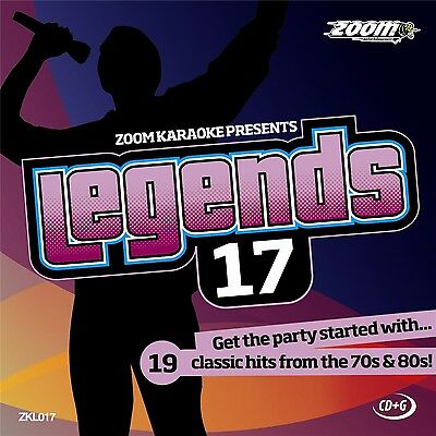£4.85 • Buy Zoom Karaoke Legends 17 (ZKL017) CD+G Disc - 19 Classic Hits From The 70s & 80s