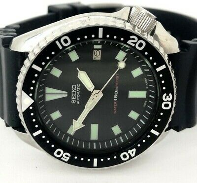 $ CDN284.39 • Buy Seiko Diver Watch 7002 Automatic - Black Dial  - 1254