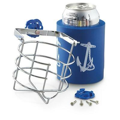 $13.99 • Buy Chrome Plated Brass Swivel Mug Cup Can Drink Holder Blue Boat No Spill SL52110