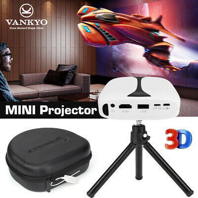 VANKYO Burger 101 DLP 3D Mini Projector Wireless For IPhone Android Laptop WiFi • 169.99£