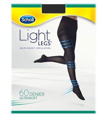 £12.99 • Buy Scholl Light Legs Compression Tights For Women, 60 Denier, Black, Extra Large