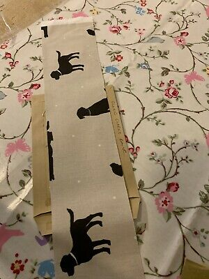 Fabric Remnant Patchwork Sewing Craft Material Clarke Labrador Dogs 64x10cm • 3£