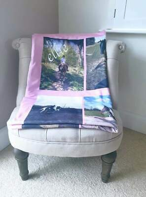 £28.99 • Buy Personalised Photo Large Blanket DOUBLE LAYERED THICKNESS Any Colour