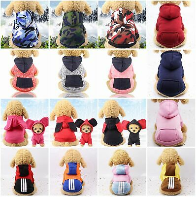 Winter Autumn Dog Cat Pet Puppy Jacket Hoodie Warm Clothes Clothing Coat Costume • 3.59£