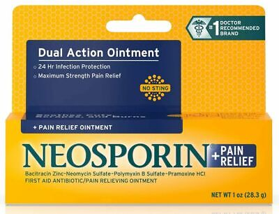 £12.38 • Buy Neosporin + Pain Relief No Sting Cuts|Scrapes|Burns Dual Action Ointment SEALED