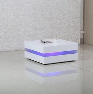 AU199 • Buy New Modern Coffee Table With LED Light High Gloss