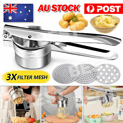 AU13.95 • Buy Potato Ricer Masher Fruit Press With 3 Discs Professional All Stainless Steel AU