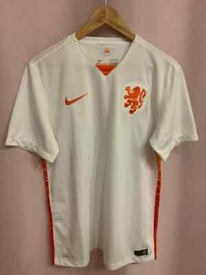 Netherlands Holland Nt 2015/2016 Away Football Shirt Jersey Size M Nike • 39.99£