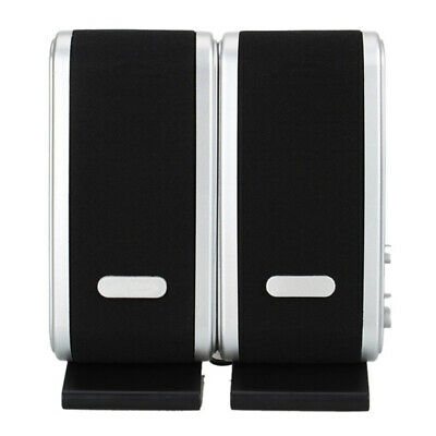 Portable USB Multimedia Stereo Speakers System For PC Laptop Computer 3W Black • 7.58£