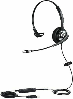 MAIRDI USB Headset With Noise Cancelling Microphone For Office Call Center Skype • 34.99£