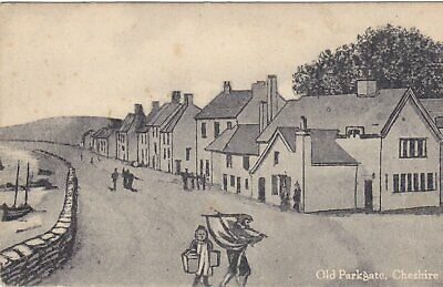 £6.99 • Buy OLD PARKGATE, CHESHIRE - OLD WIRRAL SKETCH POSTCARD (ref 1807/18)