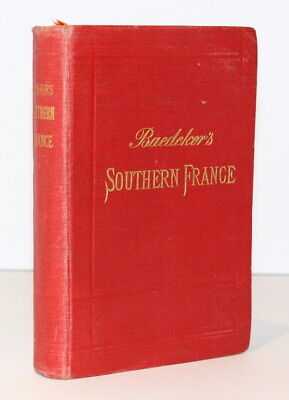 £10 • Buy Baedeker's Southern France Including Corsica/1907/Maps/Antique Travel Guide