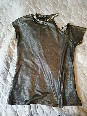 £15 • Buy Stunning River Island Silver/grey Top, Jewelry Details,size 10, New Without Tags