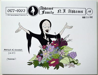 $ CDN17.61 • Buy Addams Family Dead & Breakfast MODEL SHEET - MORTICIA W FLOWERS HB 1992